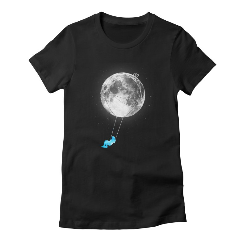 Moon Swing Women's Fitted T-Shirt by nicebleed
