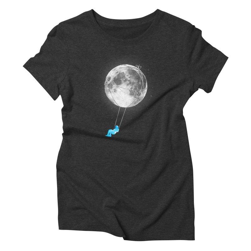 Moon Swing Women's Triblend T-Shirt by nicebleed