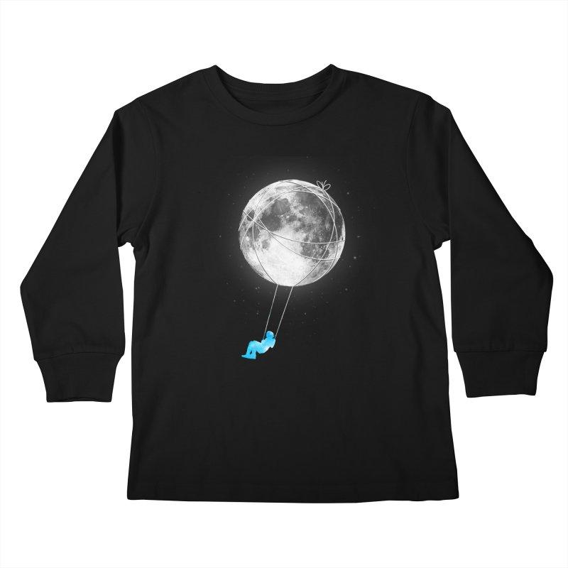 Moon Swing Kids Longsleeve T-Shirt by nicebleed