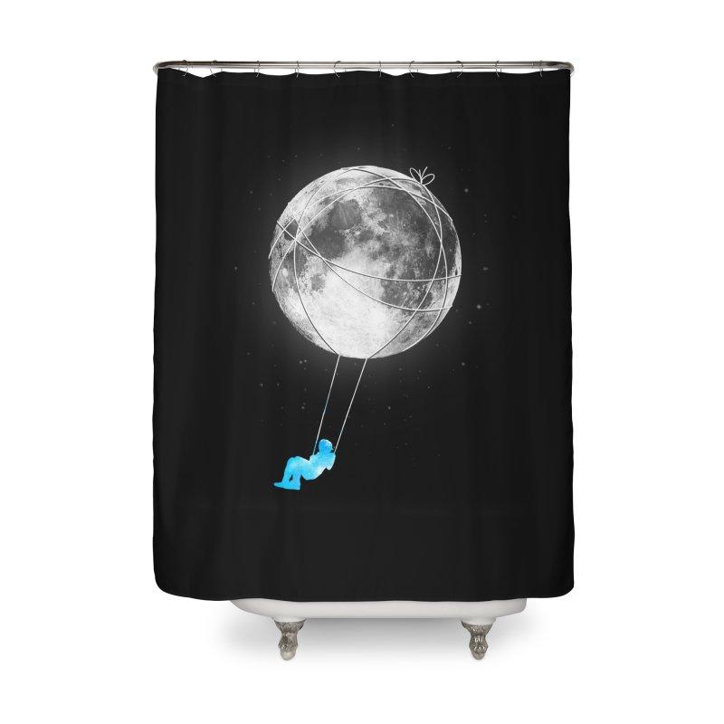 Moon Swing Home Shower Curtain by nicebleed
