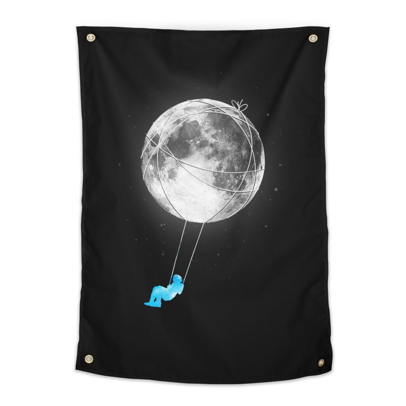 Moon Swing Home Tapestry by nicebleed
