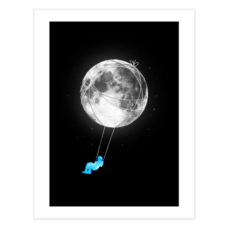 Moon Swing Home Fine Art Print by nicebleed