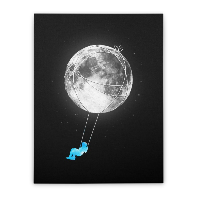 Moon Swing Home Stretched Canvas by nicebleed