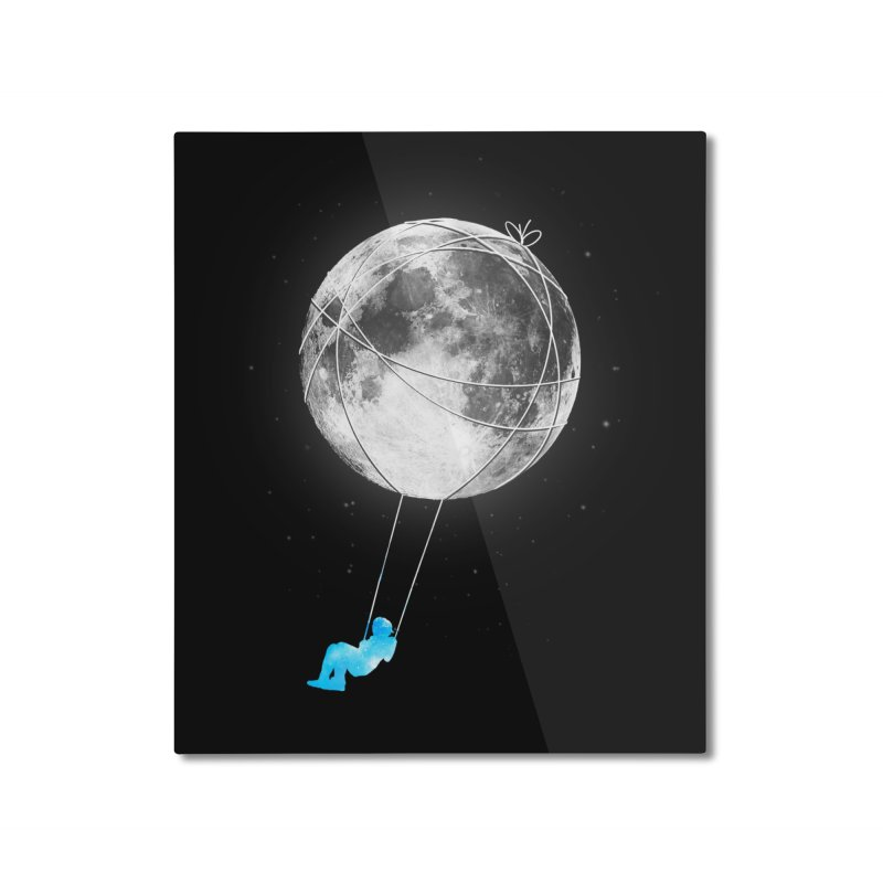 Moon Swing Home Mounted Aluminum Print by nicebleed