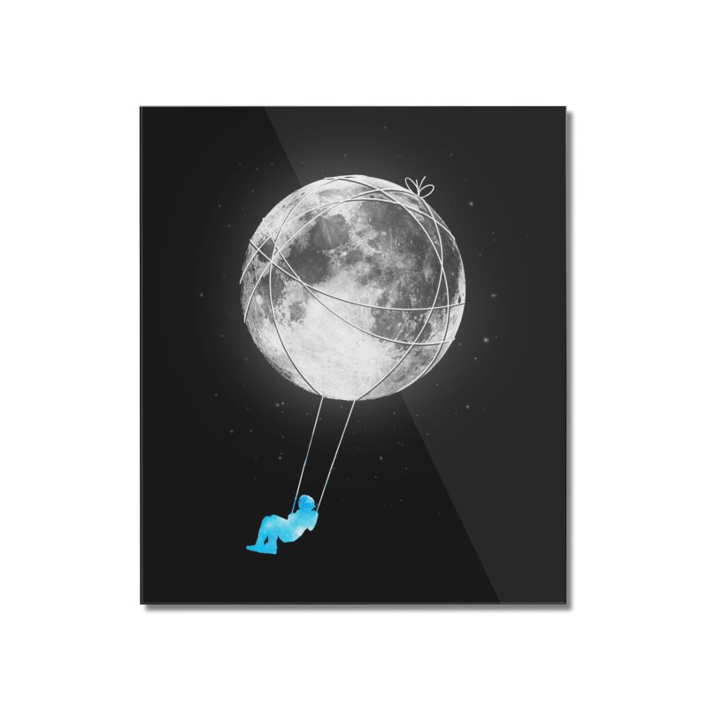 Moon Swing Home Mounted Acrylic Print by nicebleed