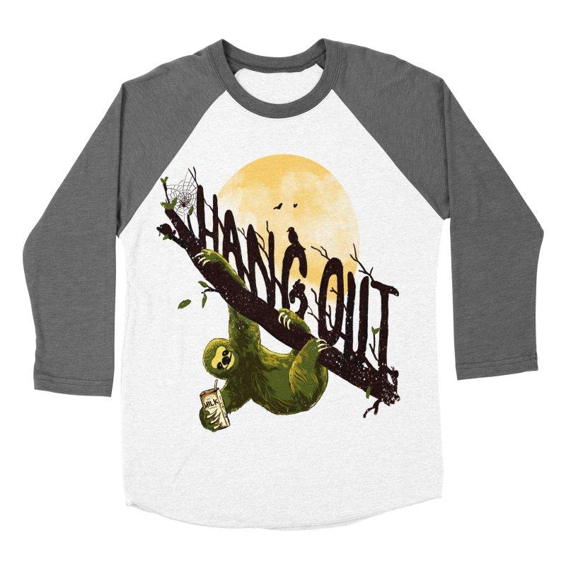 Let's Hangout Men's Baseball Triblend Longsleeve T-Shirt by nicebleed