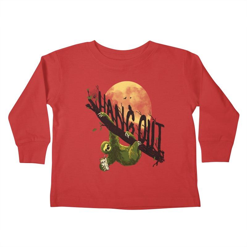 Let's Hangout Kids Toddler Longsleeve T-Shirt by nicebleed