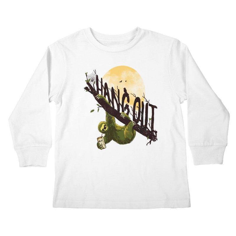 Let's Hangout Kids Longsleeve T-Shirt by nicebleed
