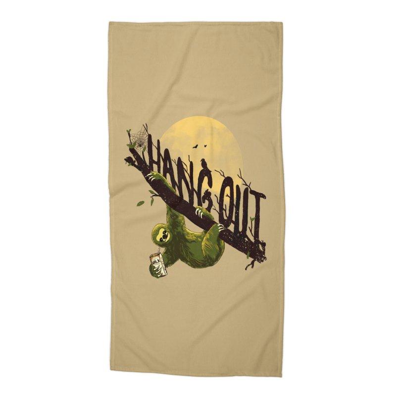 Let's Hangout Accessories Beach Towel by nicebleed