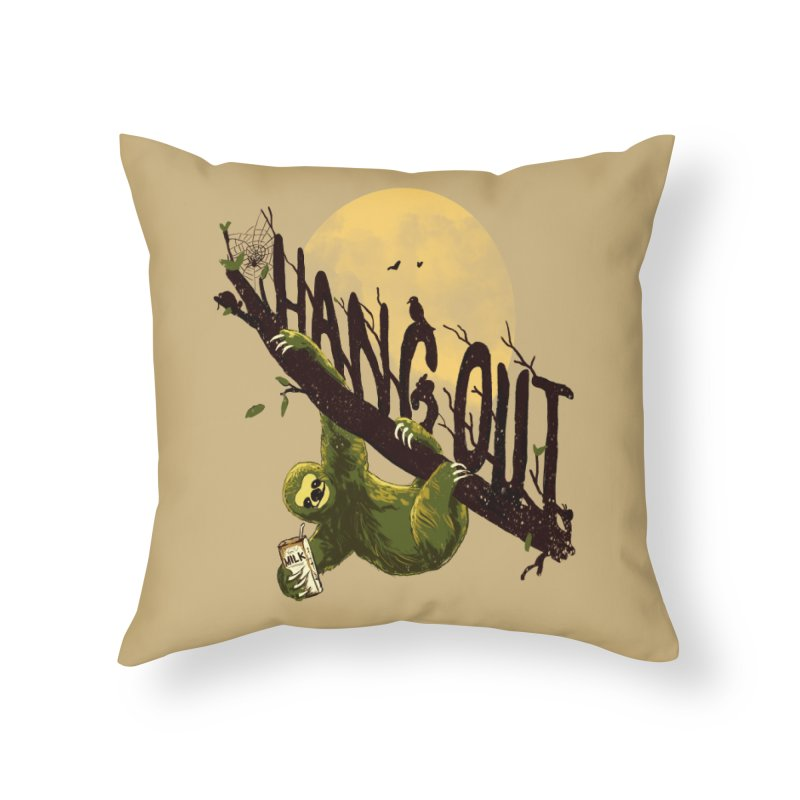 Let's Hangout Home Throw Pillow by nicebleed