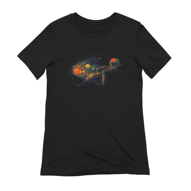 Cosmic Channel Women's Extra Soft T-Shirt by nicebleed