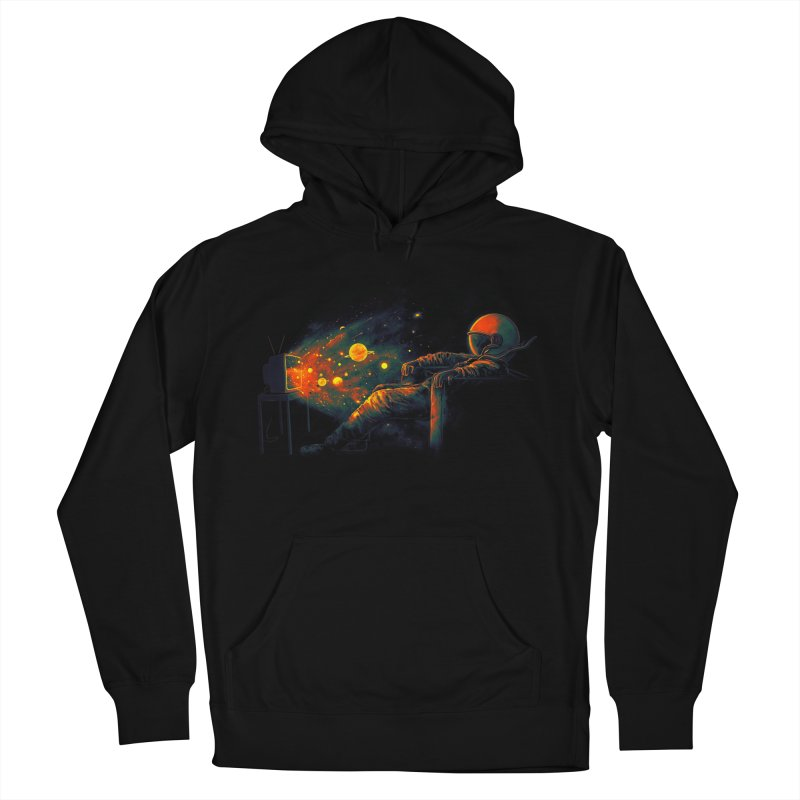 Cosmic Channel Women's French Terry Pullover Hoody by nicebleed