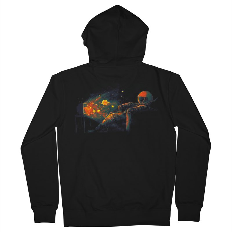 Cosmic Channel Men's French Terry Zip-Up Hoody by nicebleed