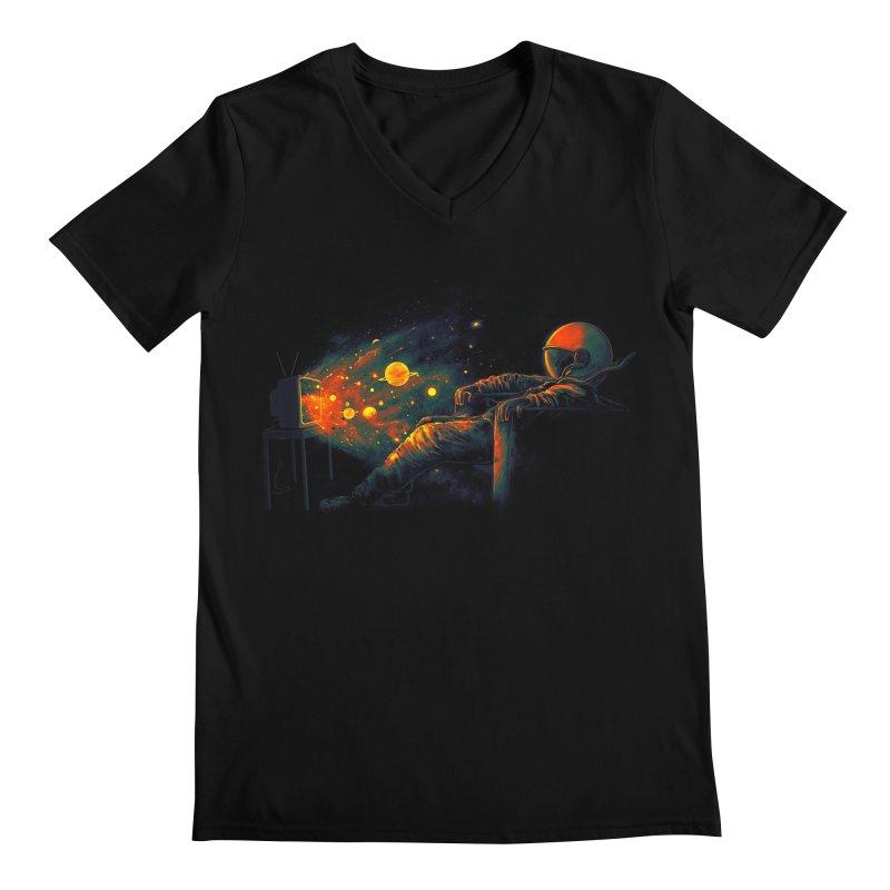 Cosmic Channel Men's Regular V-Neck by nicebleed