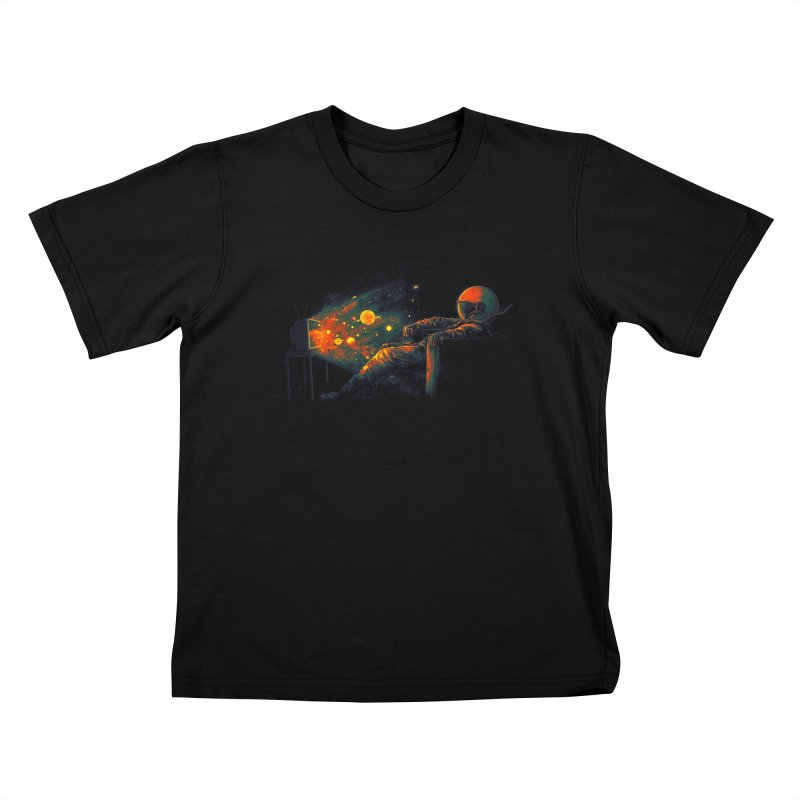 Cosmic Channel Kids T-Shirt by nicebleed