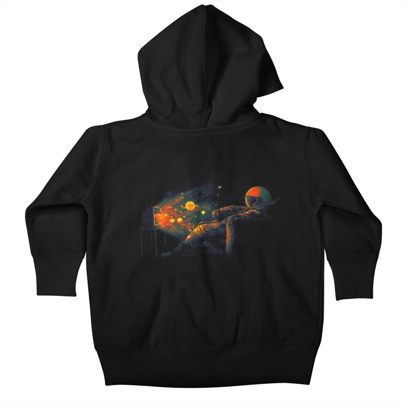 Cosmic Channel Kids Baby Zip-Up Hoody by nicebleed
