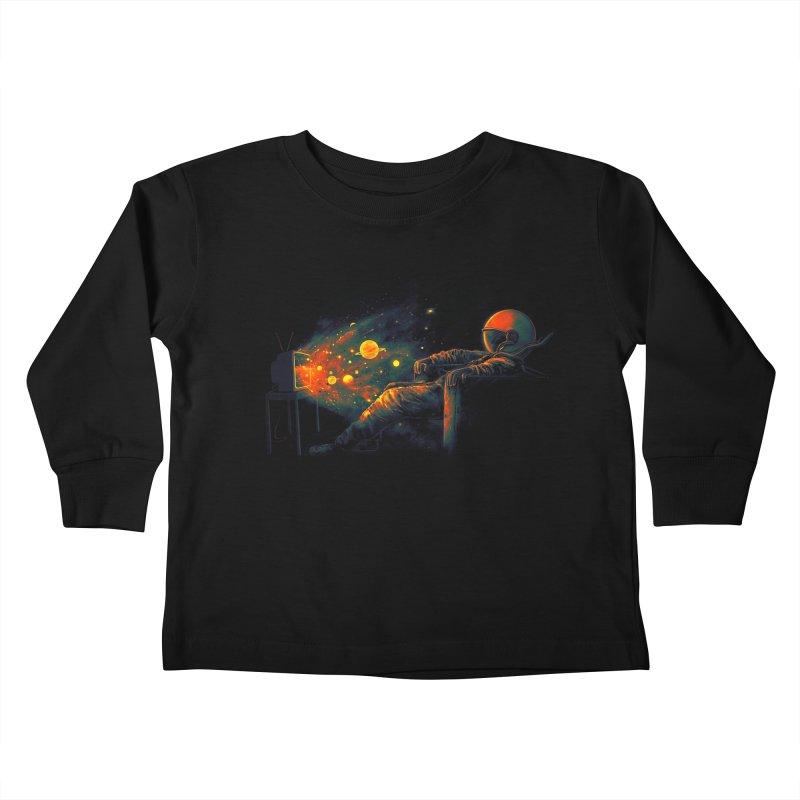 Cosmic Channel Kids Toddler Longsleeve T-Shirt by nicebleed