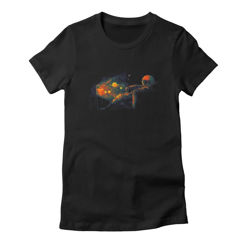 Cosmic Channel Women's Fitted T-Shirt by nicebleed