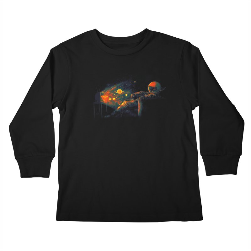 Cosmic Channel Kids Longsleeve T-Shirt by nicebleed