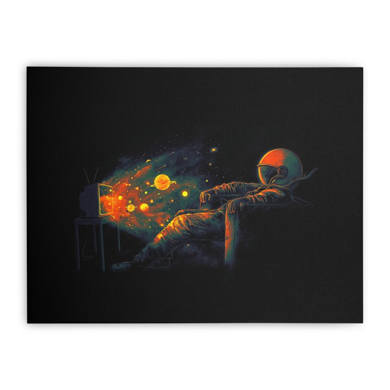 Cosmic Channel Home Stretched Canvas by nicebleed