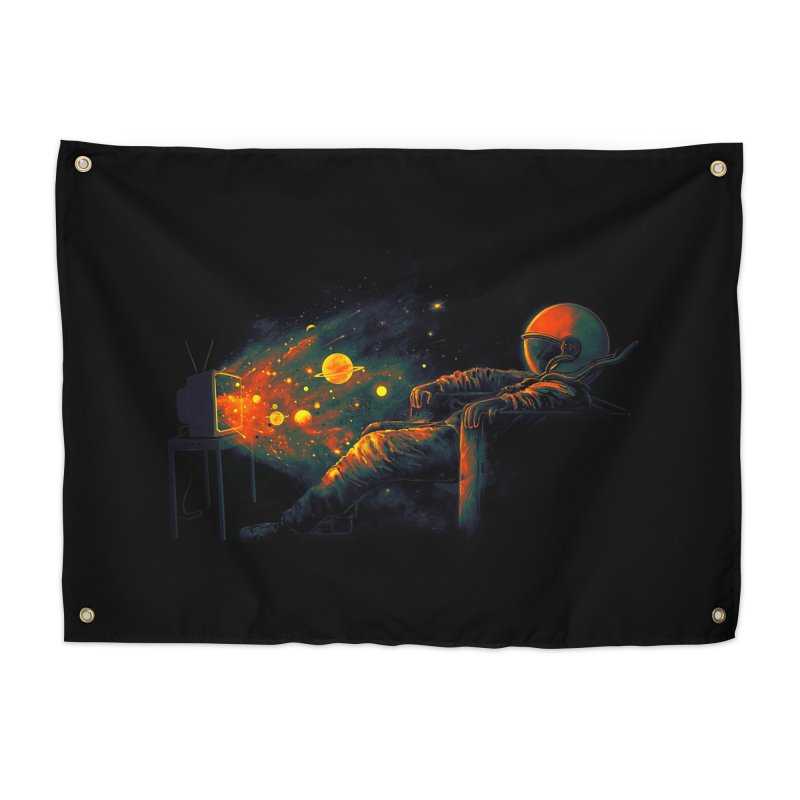 Cosmic Channel Home Tapestry by nicebleed