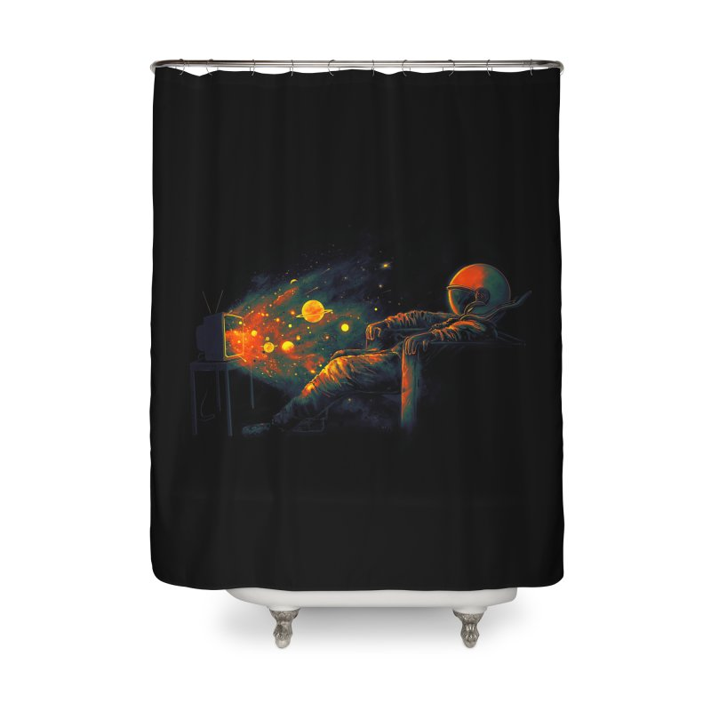 Cosmic Channel Home Shower Curtain by nicebleed