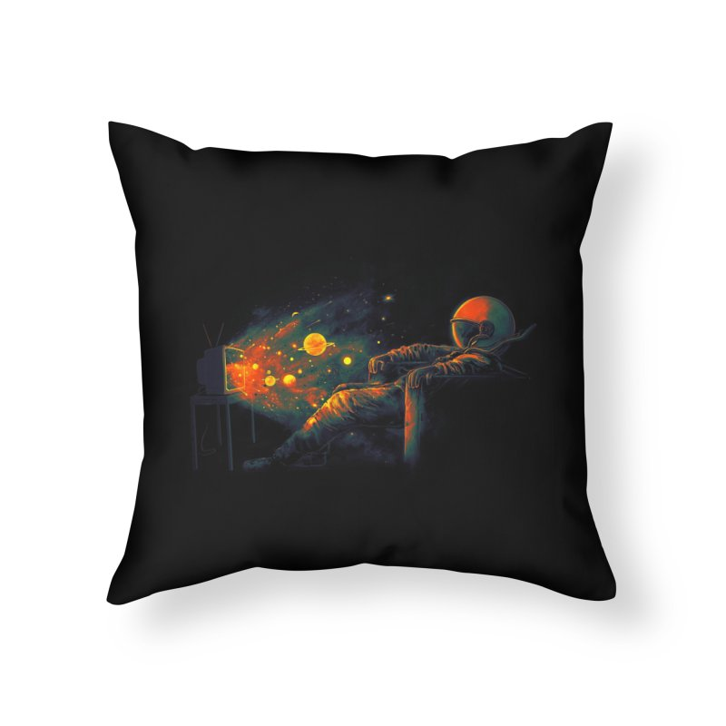 Cosmic Channel Home Throw Pillow by nicebleed
