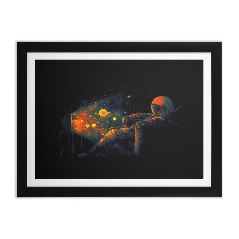 Cosmic Channel Home Framed Fine Art Print by nicebleed