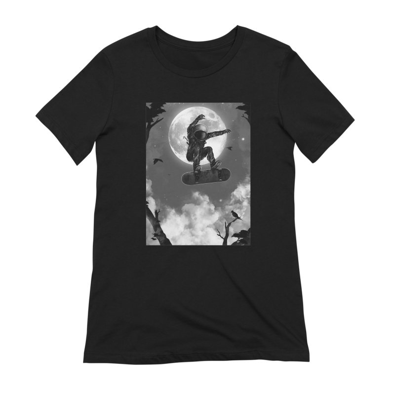 Spaceboarding Women's Extra Soft T-Shirt by nicebleed