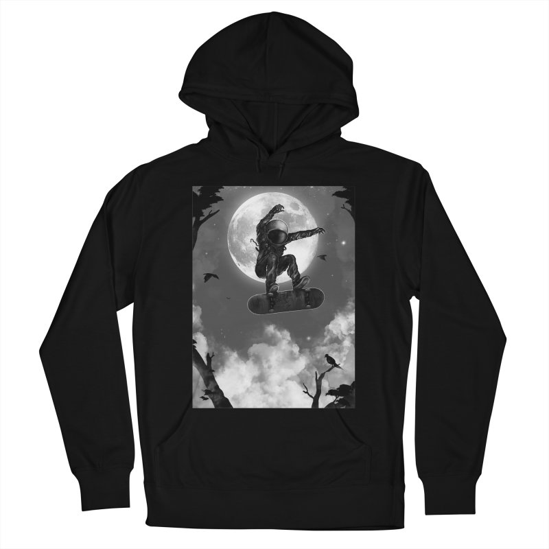 Spaceboarding Men's French Terry Pullover Hoody by nicebleed