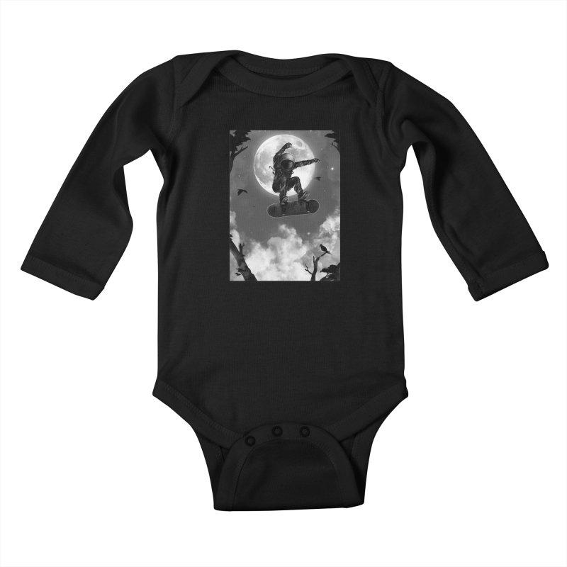 Spaceboarding Kids Baby Longsleeve Bodysuit by nicebleed