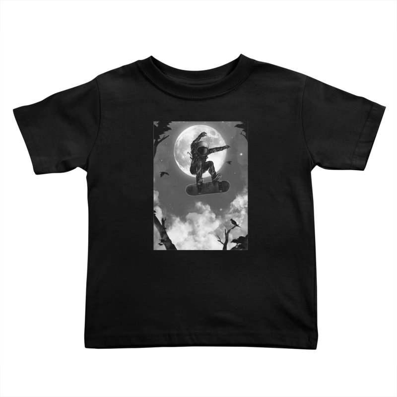 Spaceboarding Kids Toddler T-Shirt by nicebleed