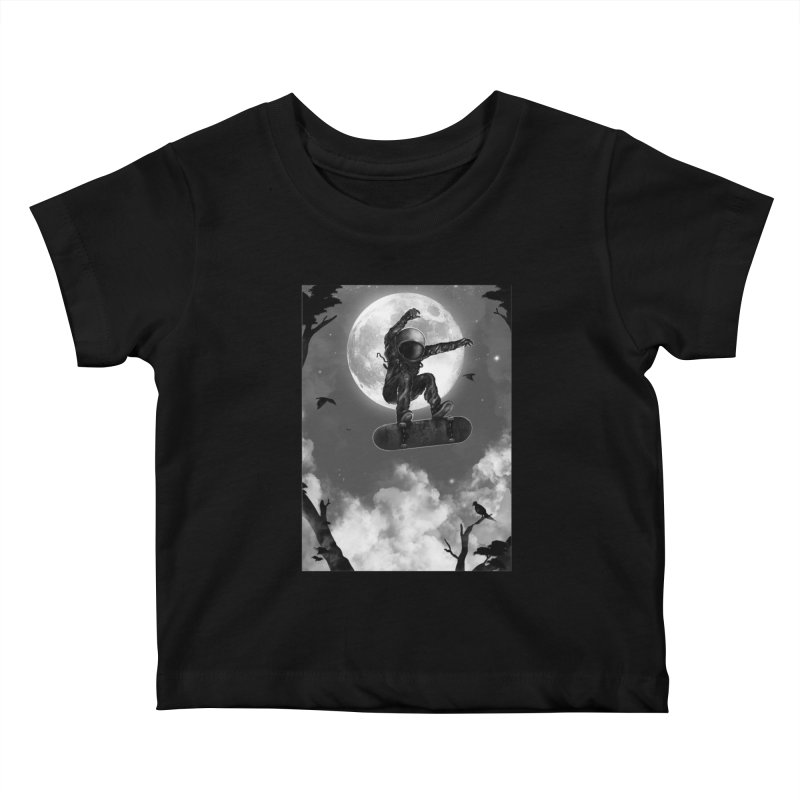 Spaceboarding Kids Baby T-Shirt by nicebleed
