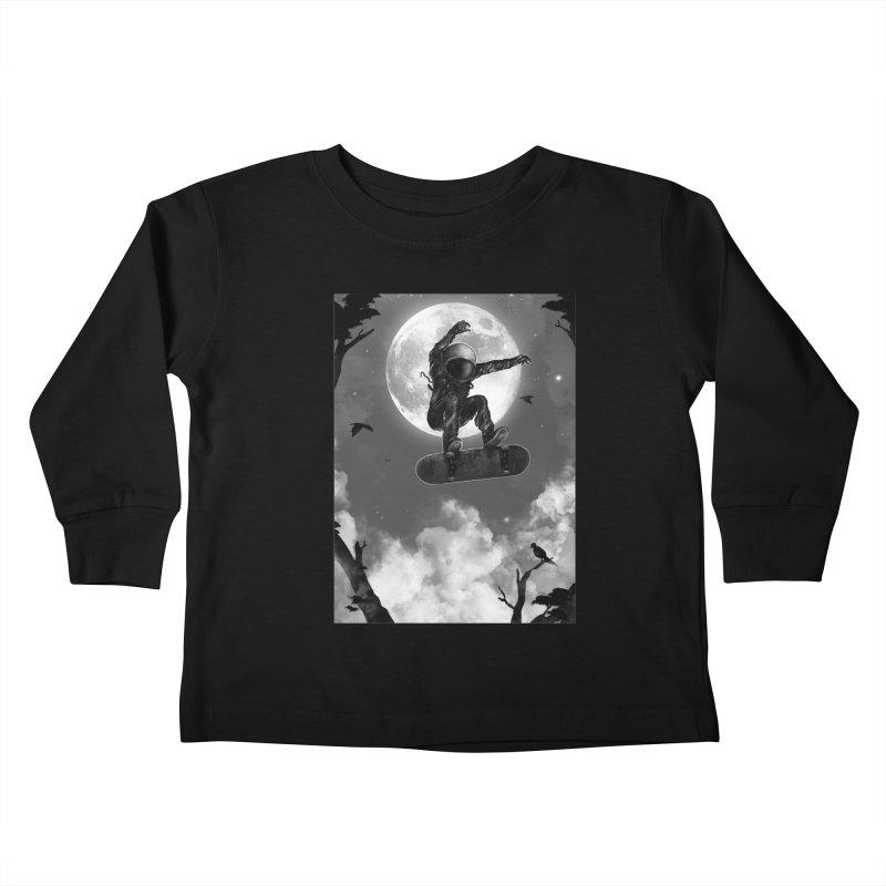 Spaceboarding Kids Toddler Longsleeve T-Shirt by nicebleed
