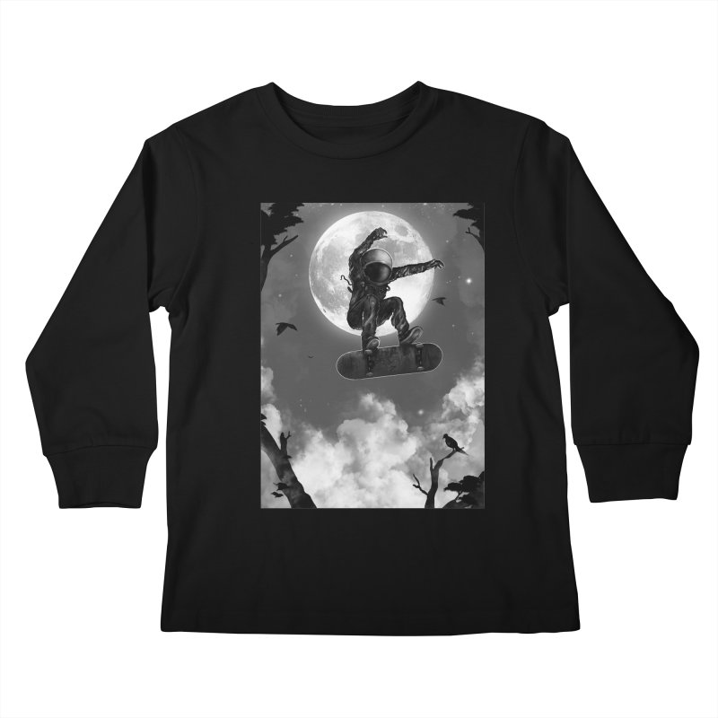 Spaceboarding Kids Longsleeve T-Shirt by nicebleed