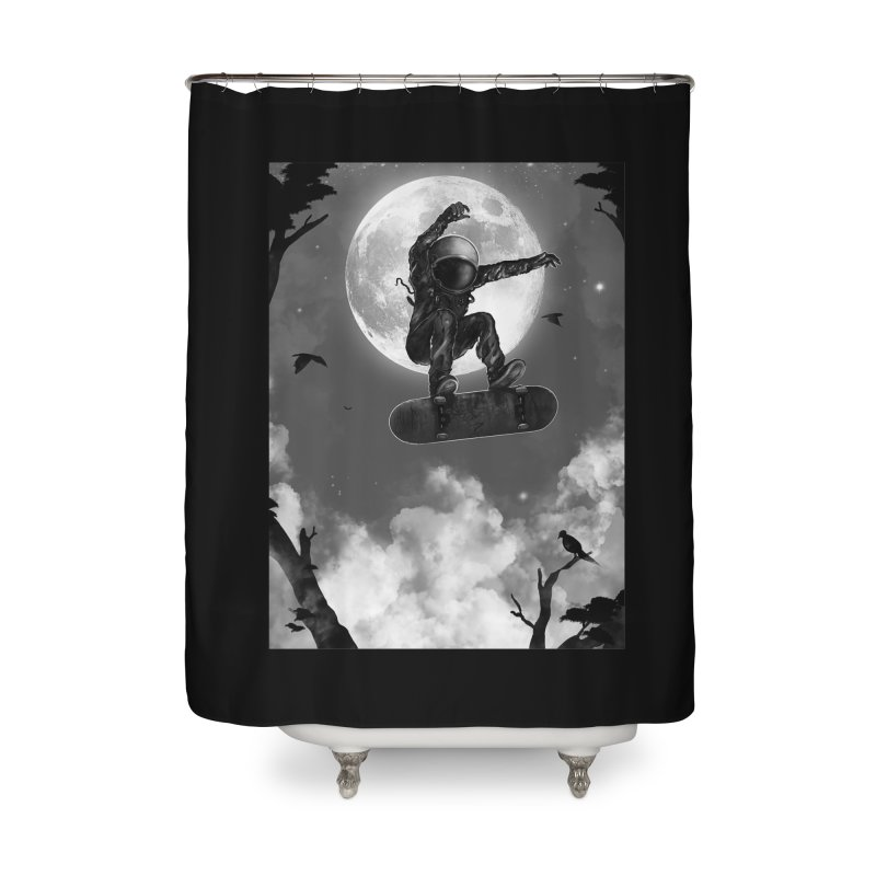 Spaceboarding Home Shower Curtain by nicebleed