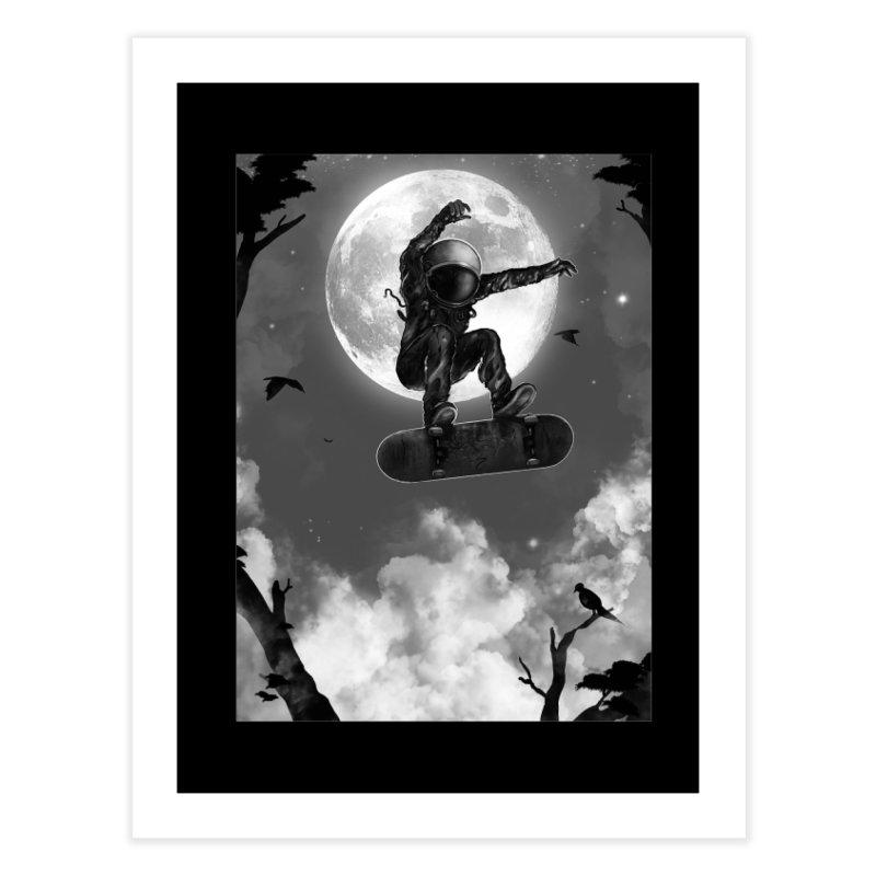 Spaceboarding Home Fine Art Print by nicebleed