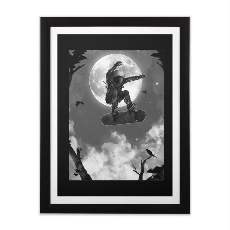 Spaceboarding Home Framed Fine Art Print by nicebleed
