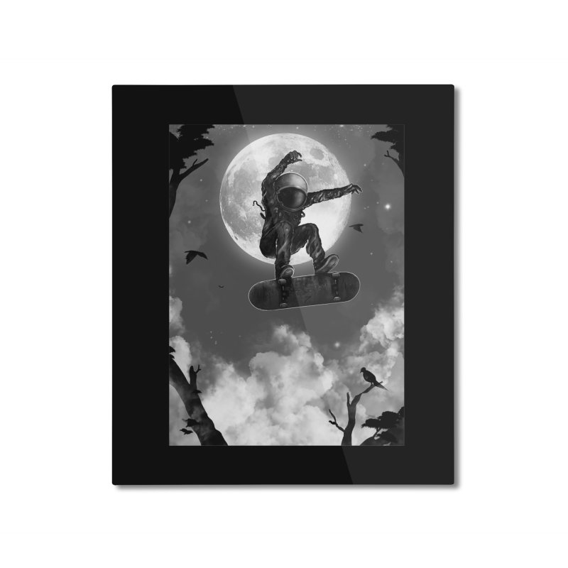Spaceboarding Home Mounted Aluminum Print by nicebleed