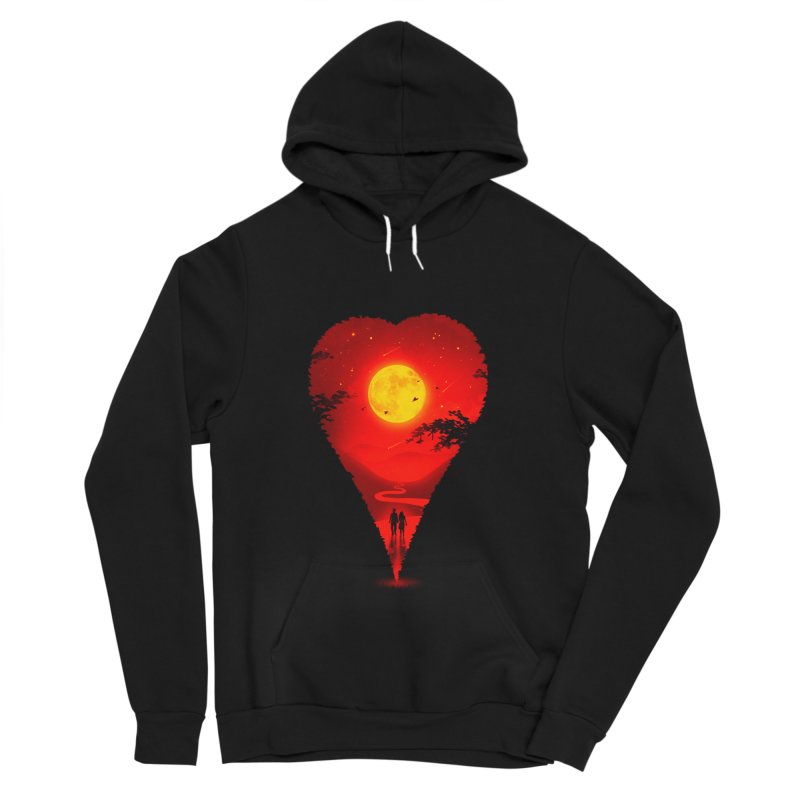 Heart Locator Men's Sponge Fleece Pullover Hoody by nicebleed