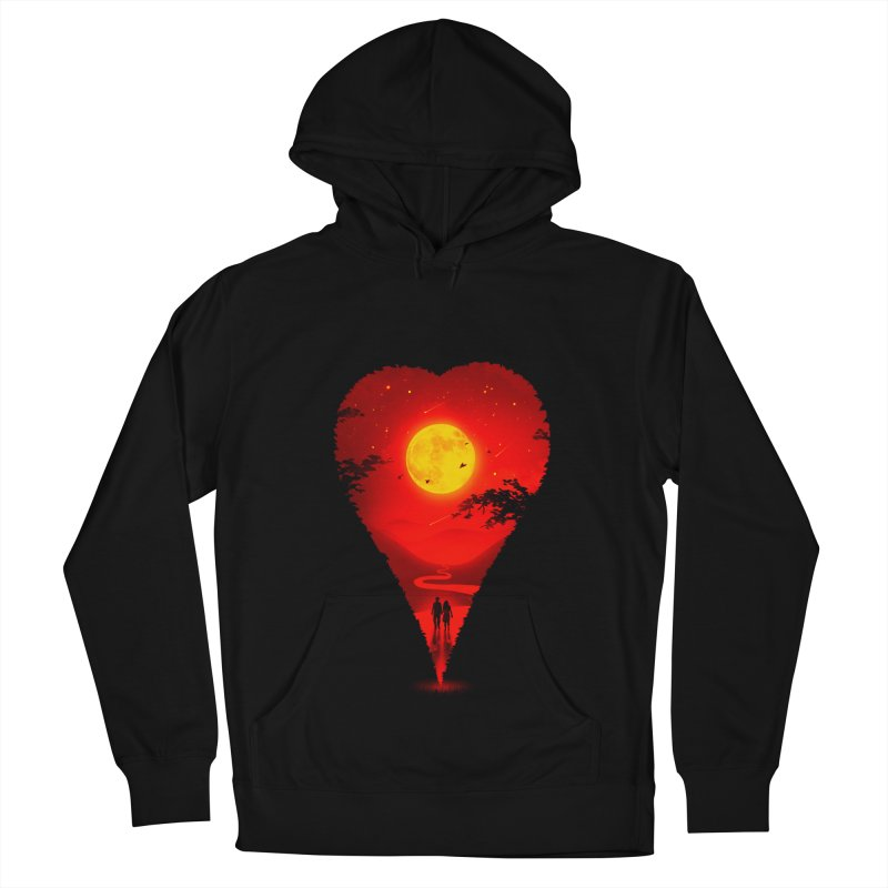 Heart Locator Women's French Terry Pullover Hoody by nicebleed