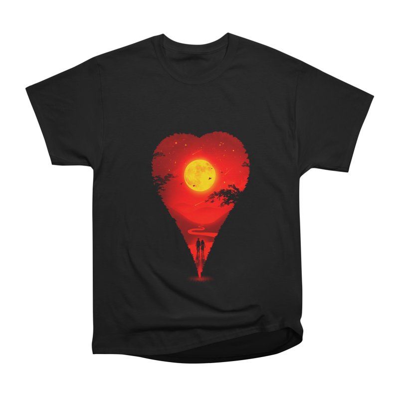 Heart Locator Women's Heavyweight Unisex T-Shirt by nicebleed