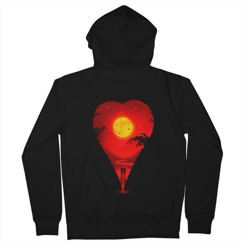 Heart Locator Women's French Terry Zip-Up Hoody by nicebleed