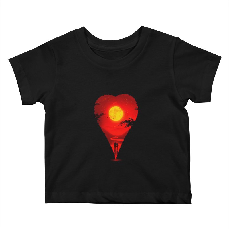 Heart Locator Kids Baby T-Shirt by nicebleed