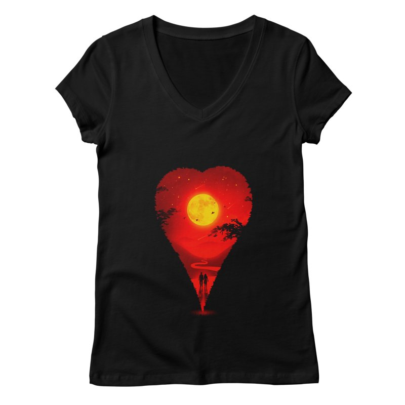 Heart Locator Women's Regular V-Neck by nicebleed