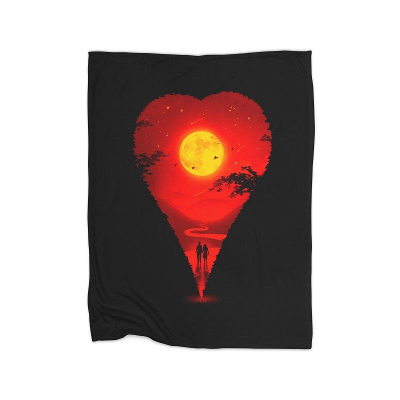 Heart Locator Home Blanket by nicebleed
