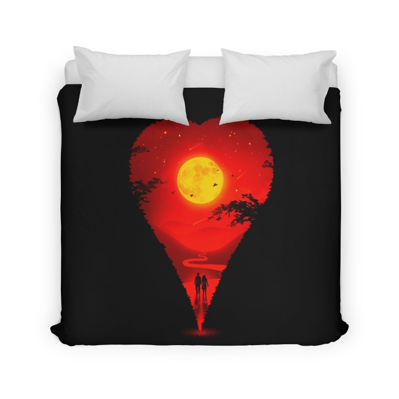 Heart Locator Home Duvet by nicebleed