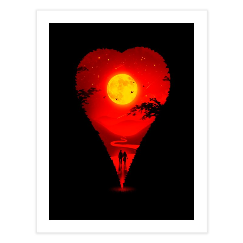 Heart Locator Home Fine Art Print by nicebleed
