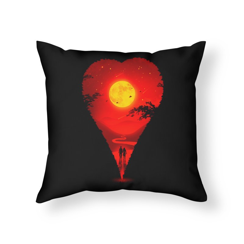 Heart Locator Home Throw Pillow by nicebleed