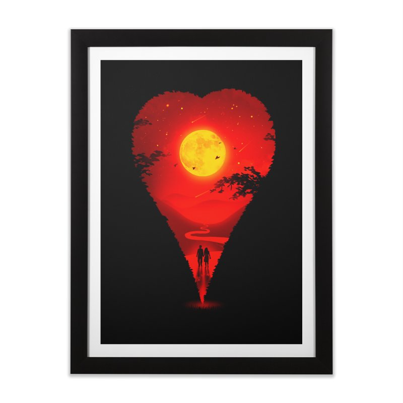 Heart Locator Home Framed Fine Art Print by nicebleed